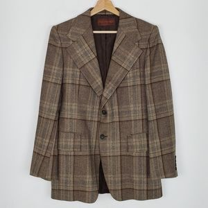 YSL Vintage Plaid Sports Coat Mens 38